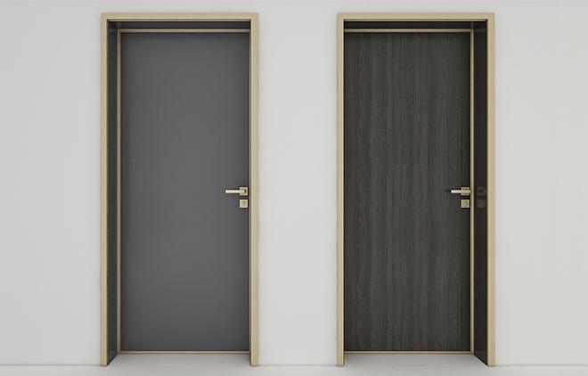 Model B minimalist interior door ( luxury gold)