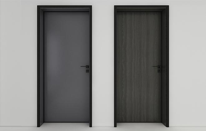 Model G minimalist interior door (new platinum gray)
